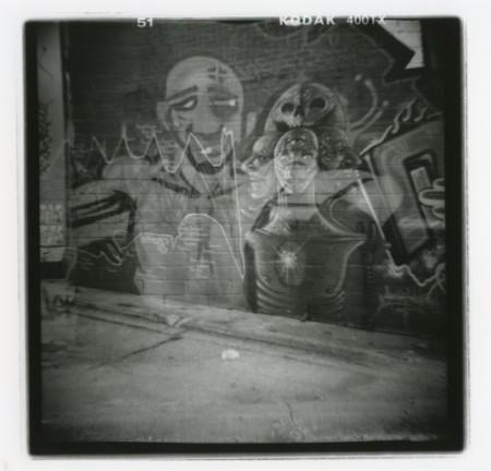 Double Graffiti - Sonja Quintero - Silver Gelatin Print