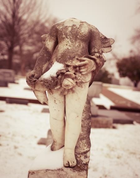 Snowy Cherub - digital print - Sonja Quintero